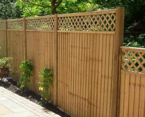 Olympian Landscaping timber fencing